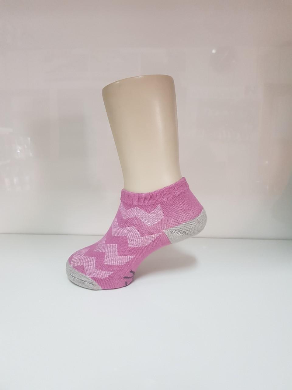 波浪網格抑菌船型除臭襪(羅蘭紫 童M-L)
