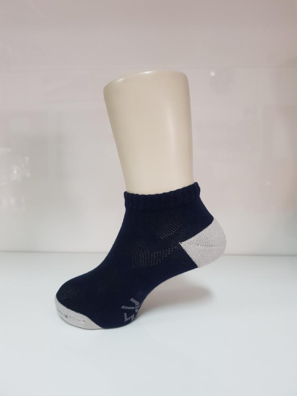 波浪網格抑菌船型除臭襪(湛海藍 童M-L)