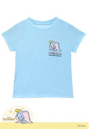 好奇小飛象防曬排汗短版涼感衣(天空藍 童100-150)