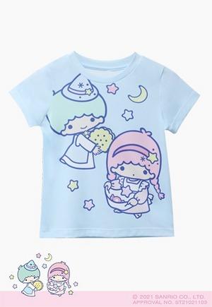 甜蜜星空雙星仙子防曬排汗短版涼感衣(天空藍 童100-150)
