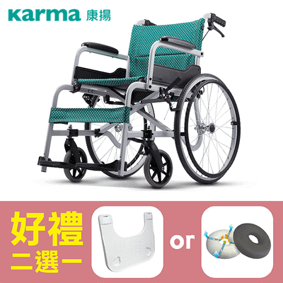 【康揚】鋁合金輪椅 飛揚100 手動輪椅 SM-100.5 ~ 超值好禮2選1