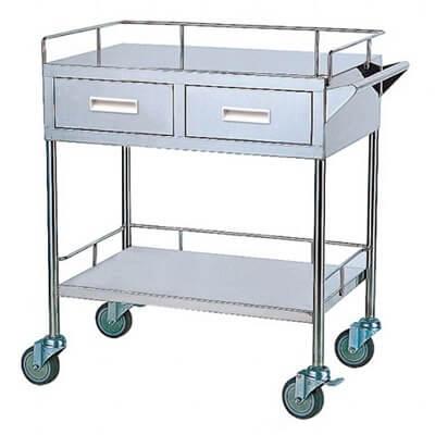 YH050 二層治療車(上層附二個抽屜)