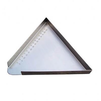 YH102-2 不鏽鋼三角型數藥盤(刻度)
