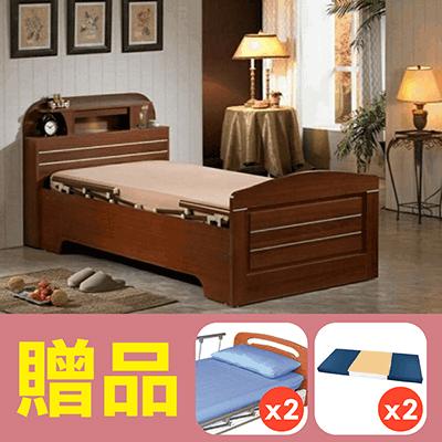 【康元】二馬達護理床電動床禾楓LED燈床H520,贈品:床包x2,防漏中單x2