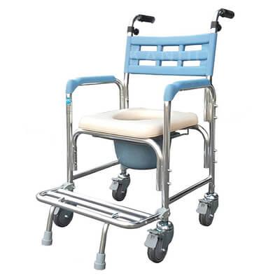 【耀宏】鋁合金洗澡椅便器椅(硬背/把手)YH125-2