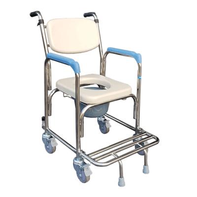 【耀宏】不鏽鋼洗澡椅 便器椅 (軟背/把手) YH125-1