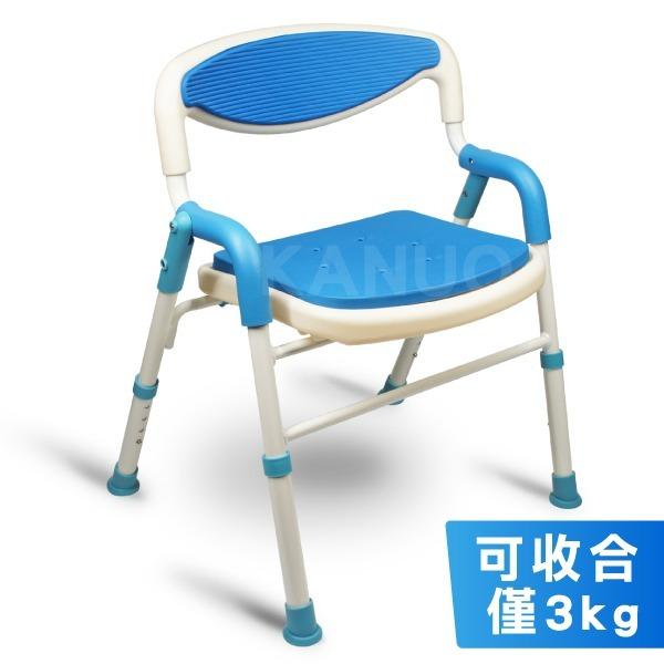 新上市!【富士康】鋁合金洗澡椅 FZK-189 (可收合、大面積坐墊)