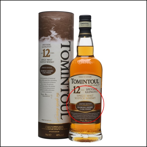 Tomintoul 12 Year Old Sherry Cask 70cl 40%