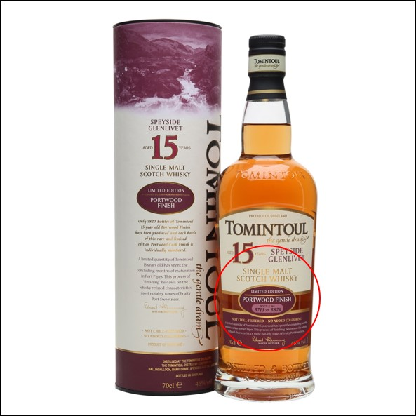 Tomintoul 15 Year Old Portwood Finish 70cl 46%