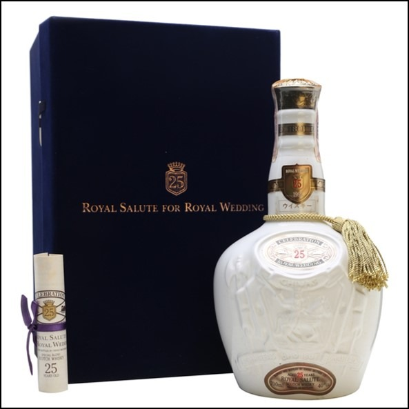 Royal Salute 25 Year Old  Royal Wedding Crown Prince of Japan 70cl 40%皇家禮砲25年