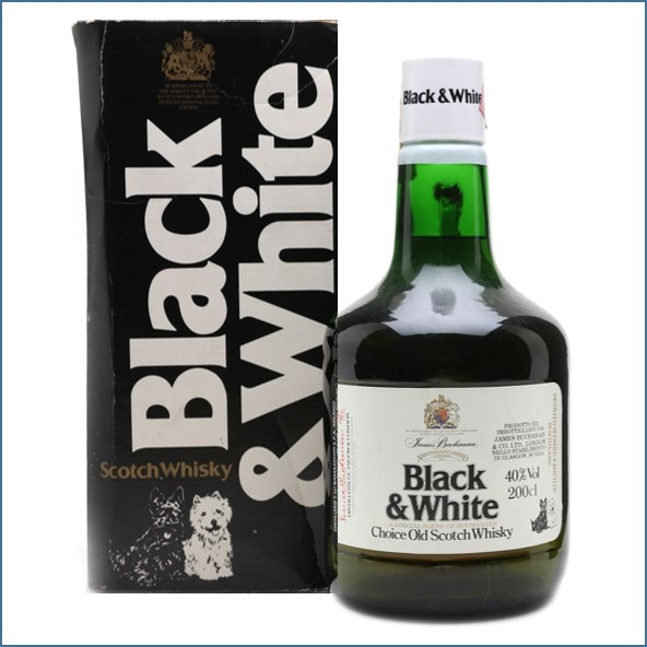 Black & White Bottled 1970s 200cl 40%