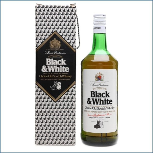 Black & White Bottled 1980s 70cl 40%
