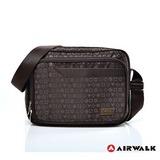 AIRWALK 邁阿密圖騰系列  質感LOGO側背包 多夾層 外出包/側背包/公事包/肩背包/休閒包