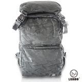 LIUKOO戰地叢林迷彩系列 – 大容量越野質感防潑水登山後背包-【神秘黑】
