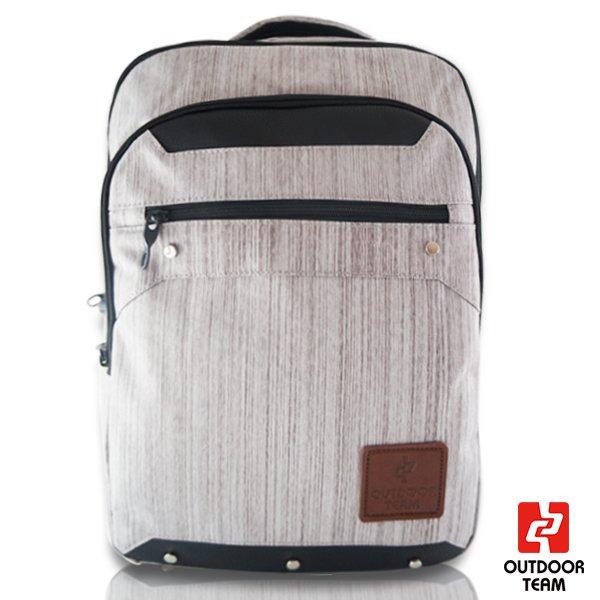 【禾雅】-OUTDOOR TEAM時尚休閒系列-【OD8532-DA00】-韓系 休閒 直拉鏈質感大容量後背包 -【低調灰】