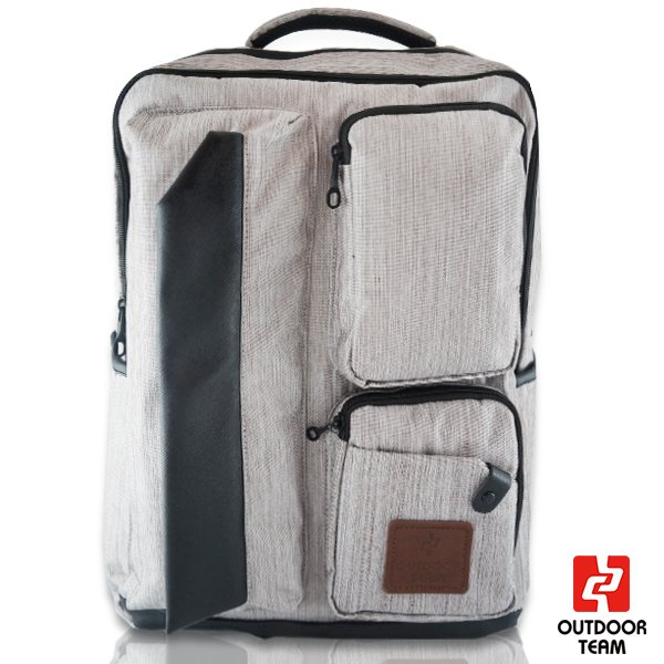 【禾雅】-OUTDOOR TEAM時尚休閒系列-【OD8827-DA00】-韓系 休閒 直拉鏈質感大容量後背包 -【低調灰】
