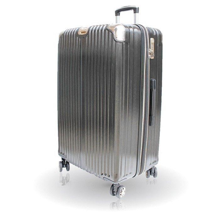 【禾雅時尚】NEW Starlight-29吋髮絲海關鎖ABS+PC硬殼行李箱-黑金(JT1702-BG29)