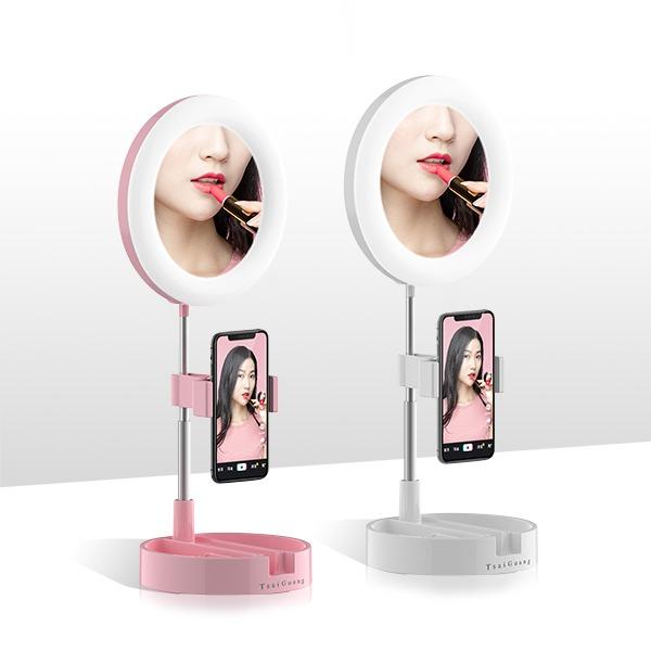 美顏補光化妝鏡(圓形)