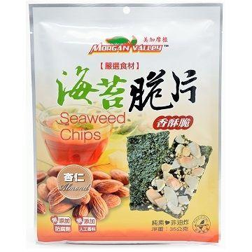 美加摩根 海苔脆片=杏仁口味 鋁箔袋裝-35g