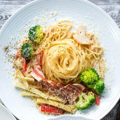 培根白醬義大利麵
