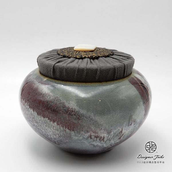 江玗-流釉中茶罐