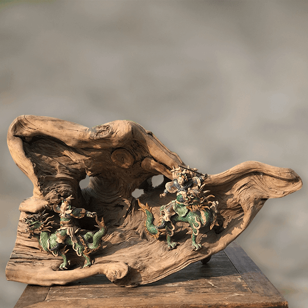 龍眼木-交趾陶木雕
