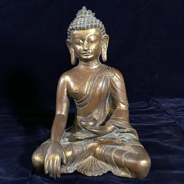 鎏金銅佛-藥師佛佛像