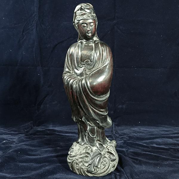 紫檀木 觀世音菩薩像
