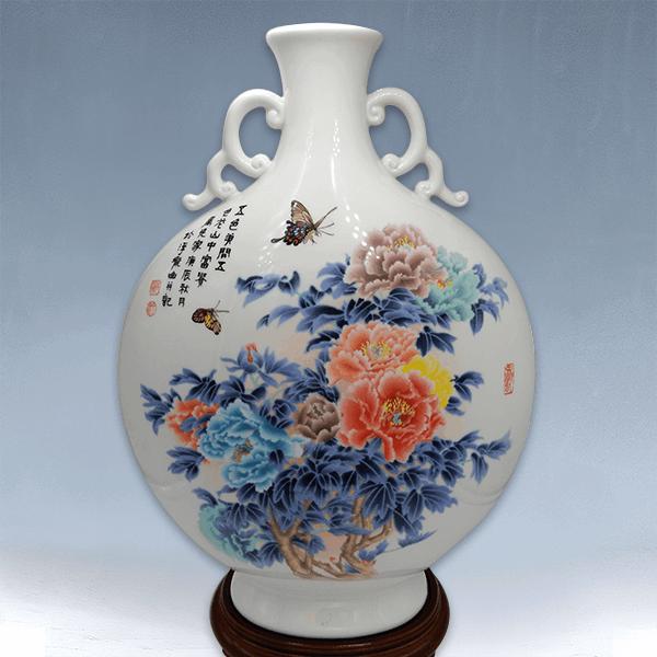 花開富貴瓷瓶