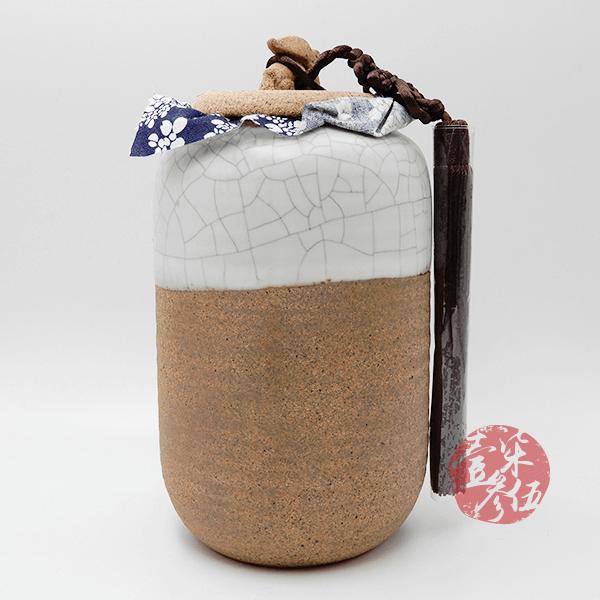 老岩泥直筒小茶罐(白)