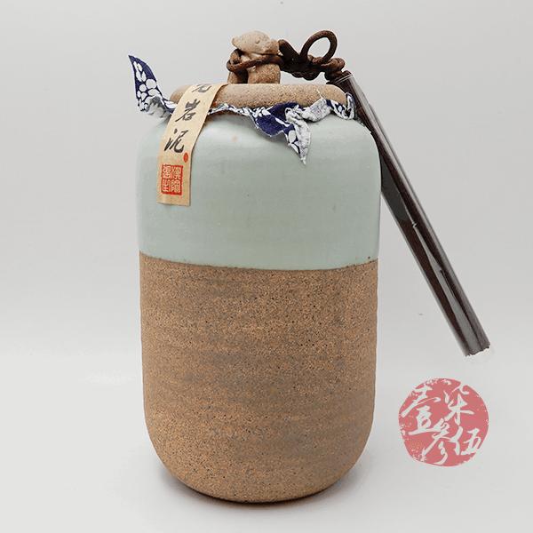 老岩泥直筒小茶罐(綠)