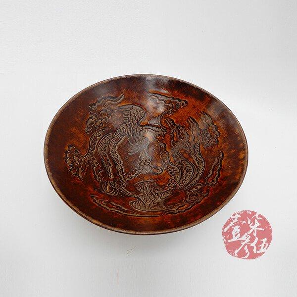 南宋 雙鳳紋吉州窯
