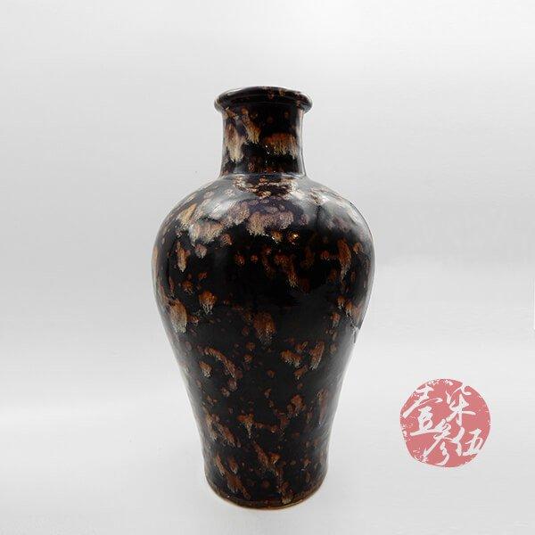 南宋 玳瑁釉梅瓶吉州窯