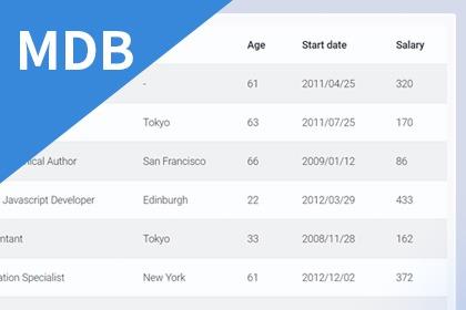 MDB5-Datatable資料型表單教學