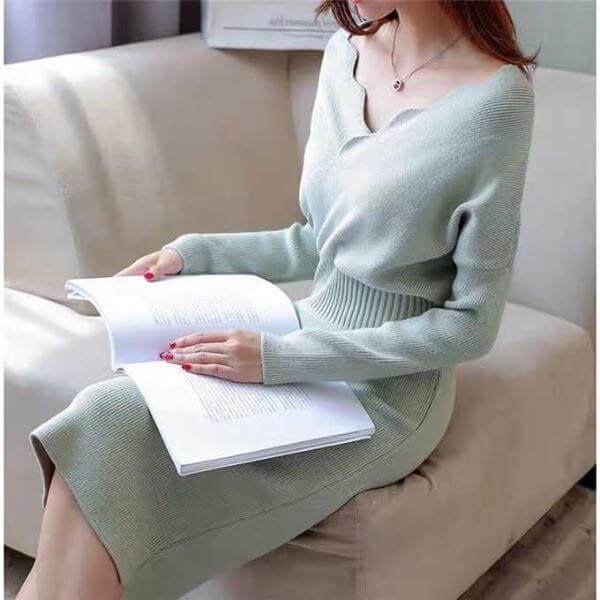 韓風長洋裝