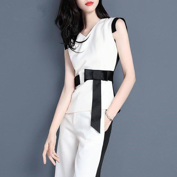 時尚黑白套裝