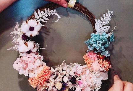 浪漫裝飾花圈