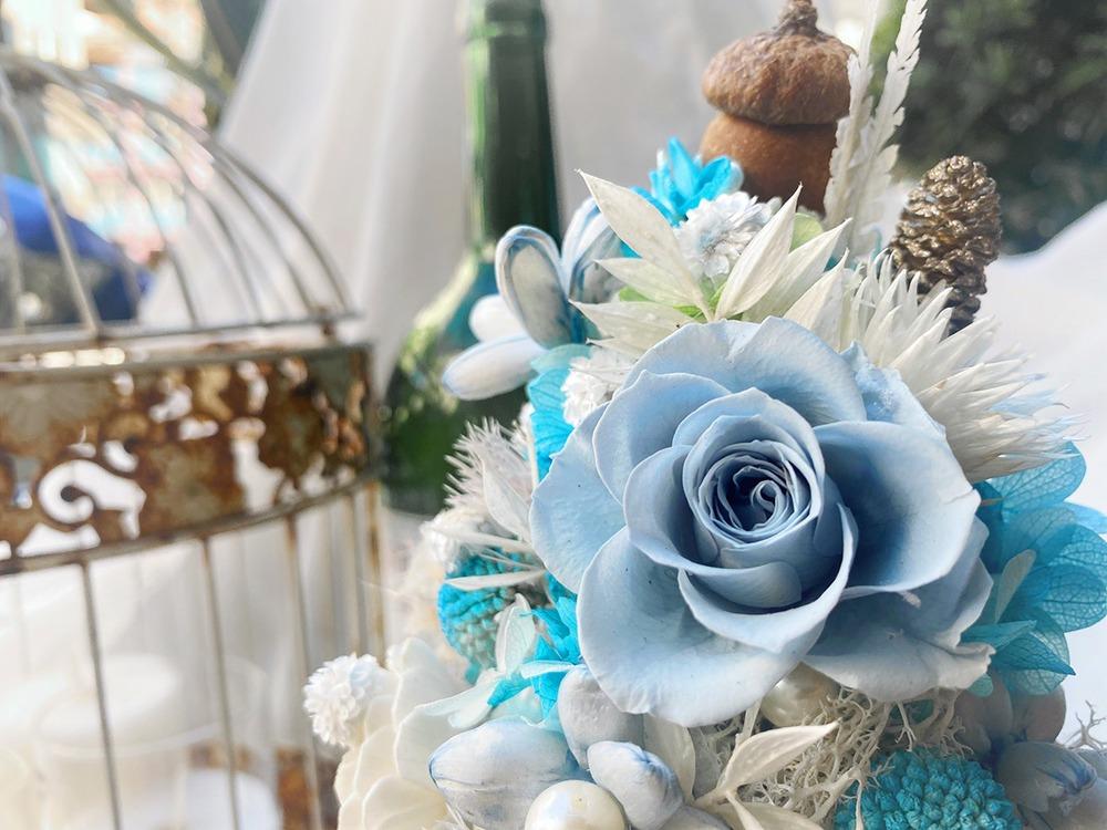 霧霾之藍 永生聖誕花藝課程