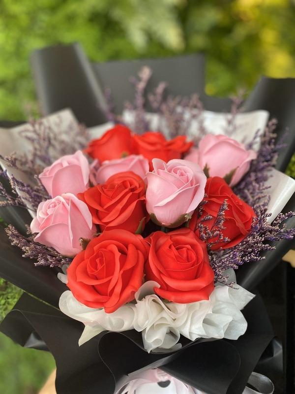 情人節肥皂花束(大)-紅色熱情