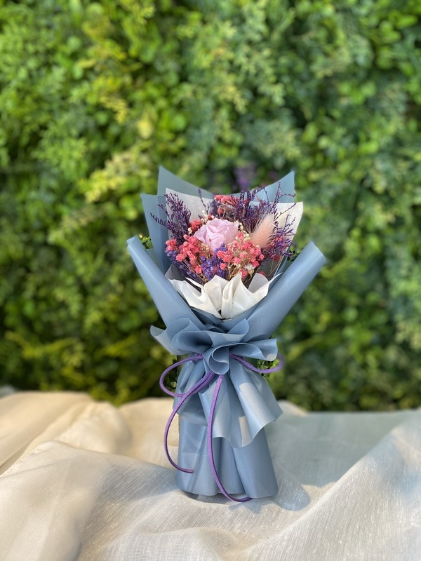 永生小花束-紫藍