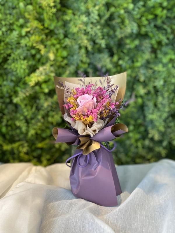 永生小花束-紫粉