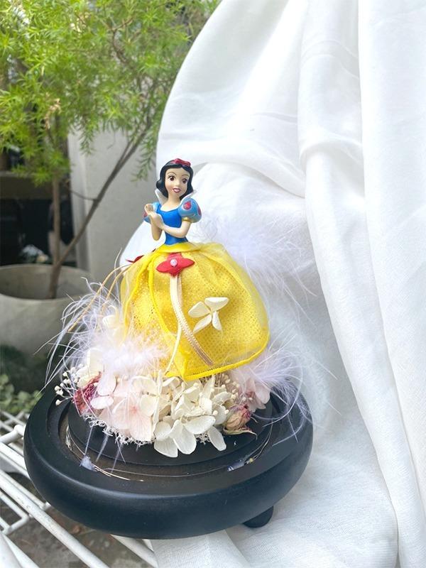 迪士尼公主永生花盅罩-白雪公主