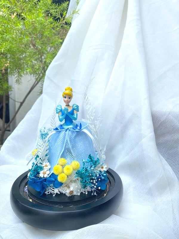 迪士尼公主永生花盅罩-灰姑娘