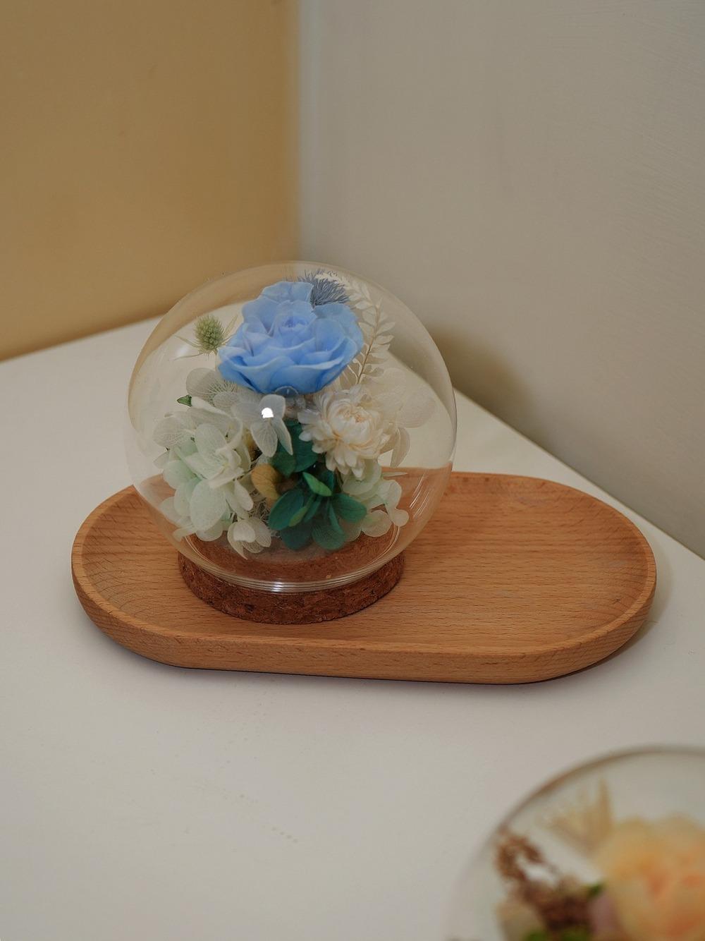 迪士尼公主永生花盅罩-茉莉公主