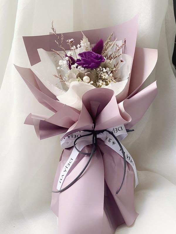 柔美系永生小花束-奢華紫