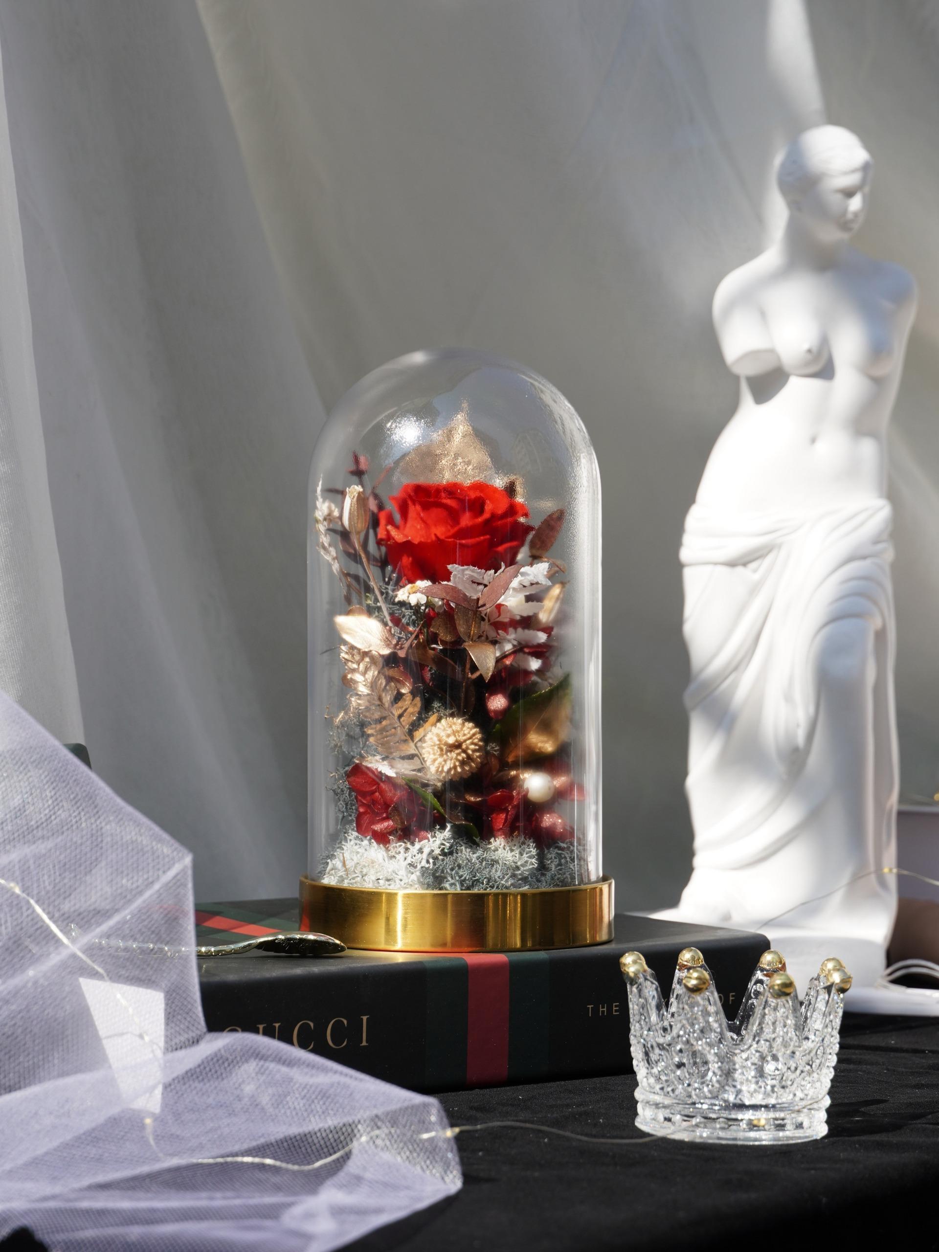熔岩之心-永生玻璃小花盅