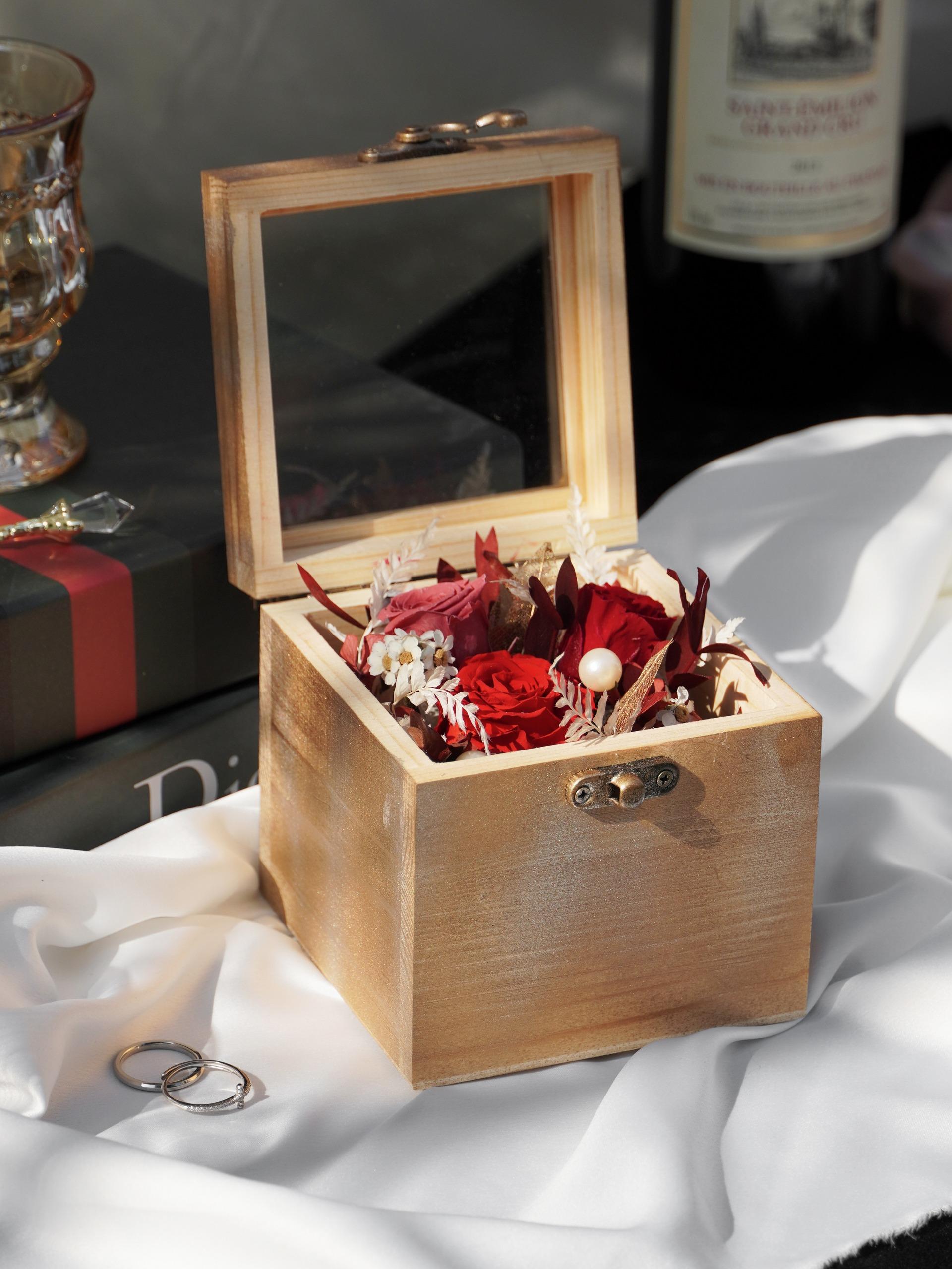 永生木質花盒