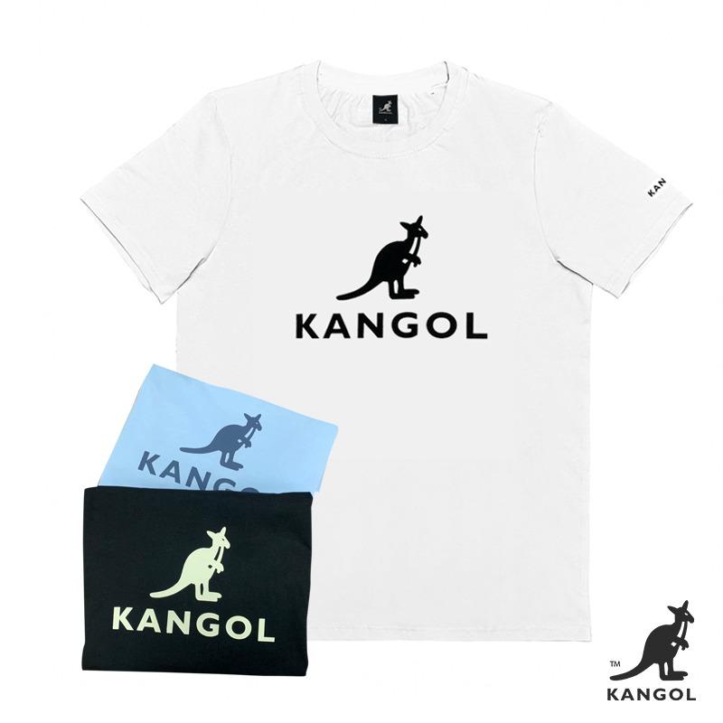 KANGOL經典LOGO圓領短袖棉T恤2020款 白/淺藍/黑