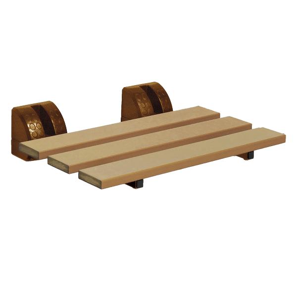 仿木壁掛式折疊洗澡椅(台灣製造)