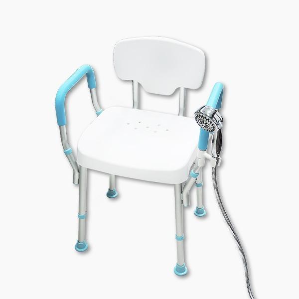 【五星評價】靠背耐重型洗澡椅(含發泡扶手)(台灣製造)